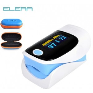 ELERA Finger Pulse Oximeter W/Carrying Case